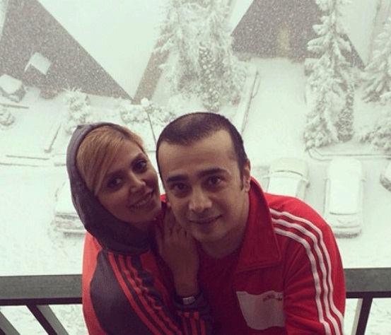 عکس سپند امیرسلیمانی و همسرش مارال آراسته۲