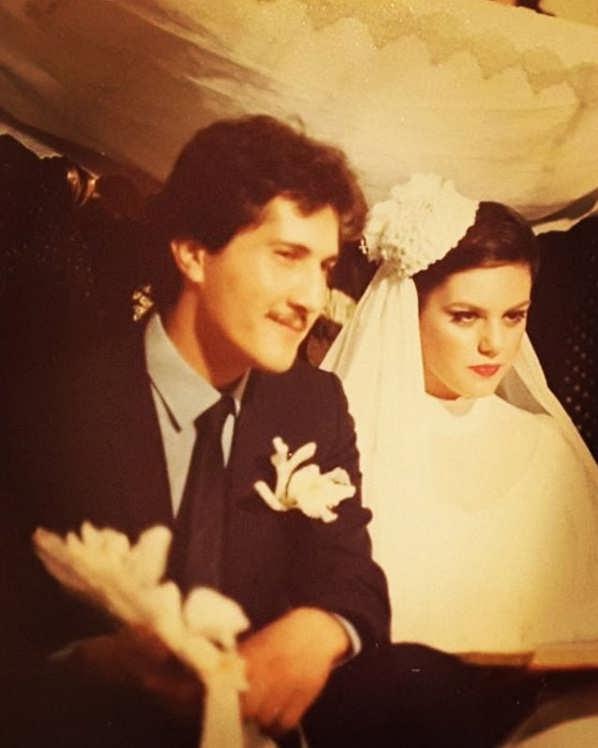 عکس مراسم ازدواج افسانه چهره آزاد و همسرش