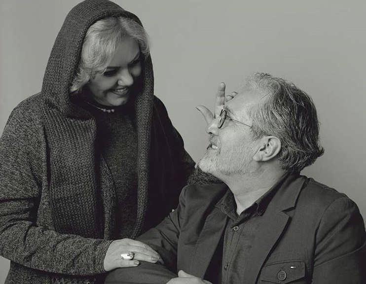 عکس افسانه چهره آزاد و همسرش
