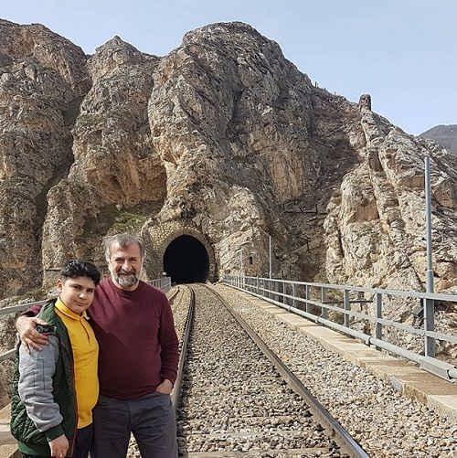 عکس مهران رجبی و پسرش علیرضا