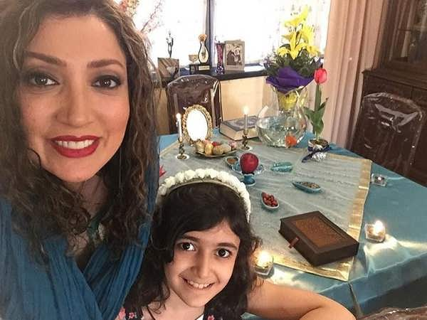 عکس نگار عابدی و دخترش اما هاشمی
