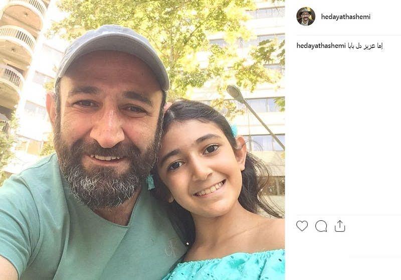 عکس هدایت هاشمی و دخترش اما هاشمی