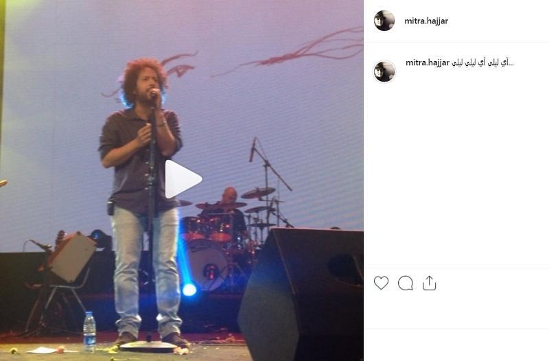 پست اینستاگرام میترا حجار از حضور در کنسرت سینا حجازی