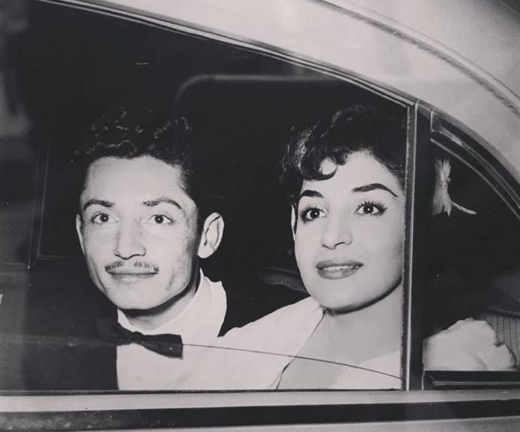 عکس ازدواج جمشید مشایخی و همسرش گیتی رئوفی