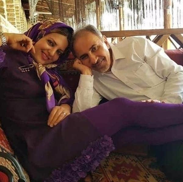 عکس میترا استاد و همسرش محمد علی نجفی