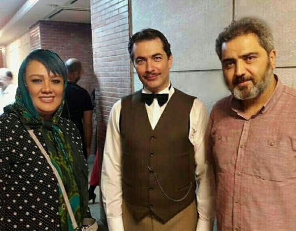 اتابک نادری و همسرش سمیرا کحالی در کنار پارسا پیروزفر