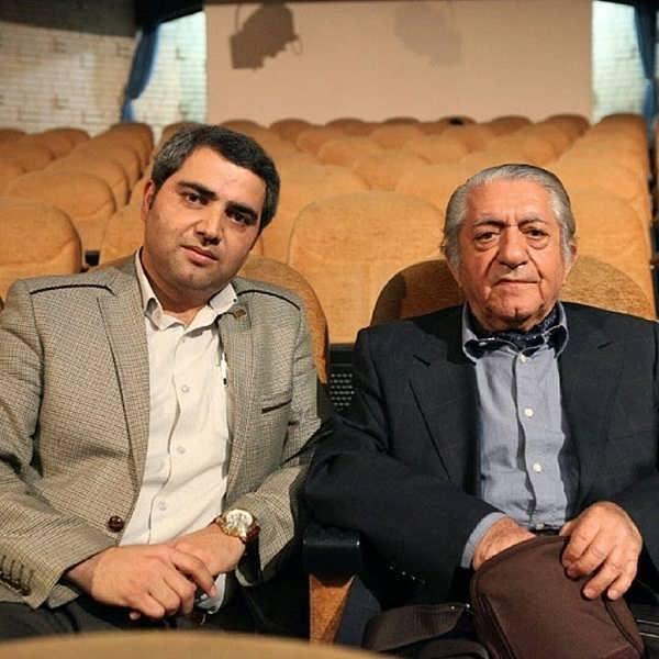 عکس اتابک نادری و استاد مرحوم عزت الله انتظامی