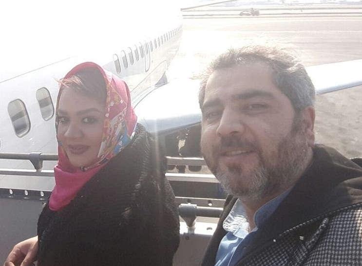 عکس اتابک نادری و همسرش سمیرا کحالی