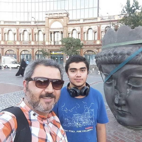 عکس اتابک نادری و پسرش تایماز نادری
