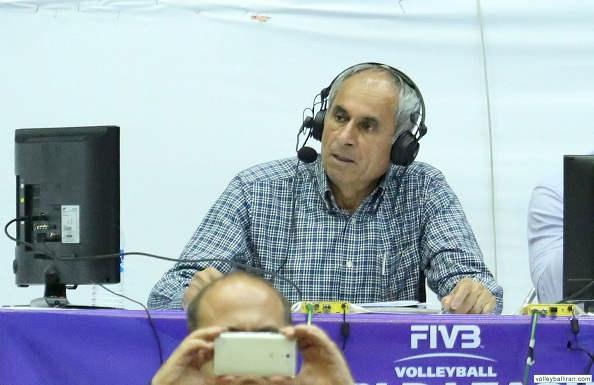 عکس جواد محتشمیان گزارشگر والیبال