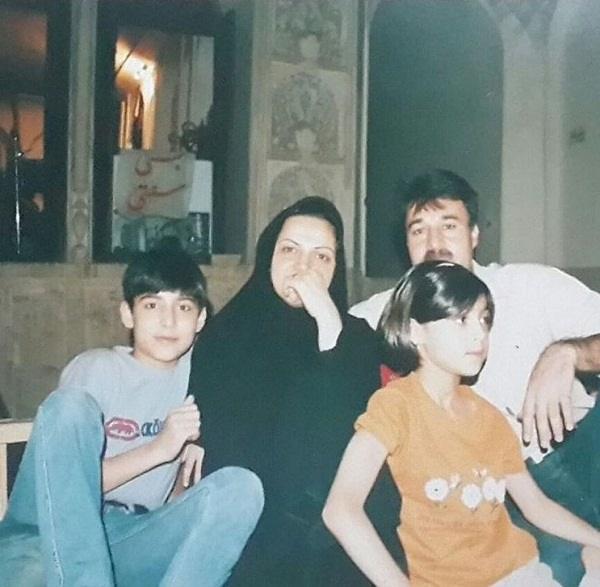 عکس خانوادگی علی شفیعی در کودکی