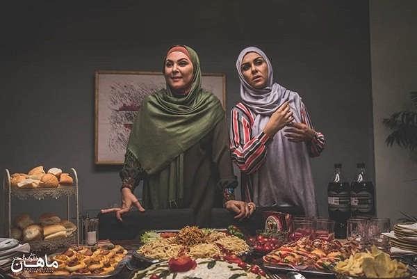 عکس لاله اسکندری و شیوا ابراهیمی بازیگران سریال خانواده دکتر ماهان