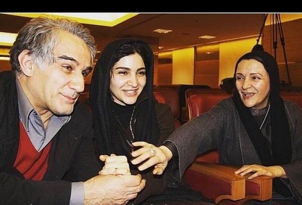 عکس مهدی هاشمی و همسرش گلاب آدینه و دخترش مدیا هاشمی