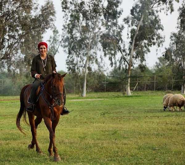 عکس همسر پیام دهکردی بازیگر نقش مایکل هاشمیان در گاندو