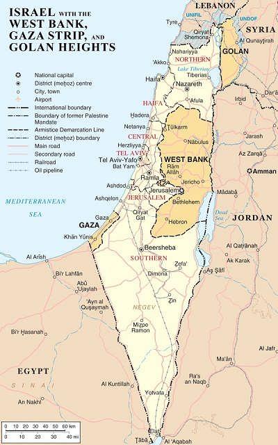 نقشه سرزمین فلسطین