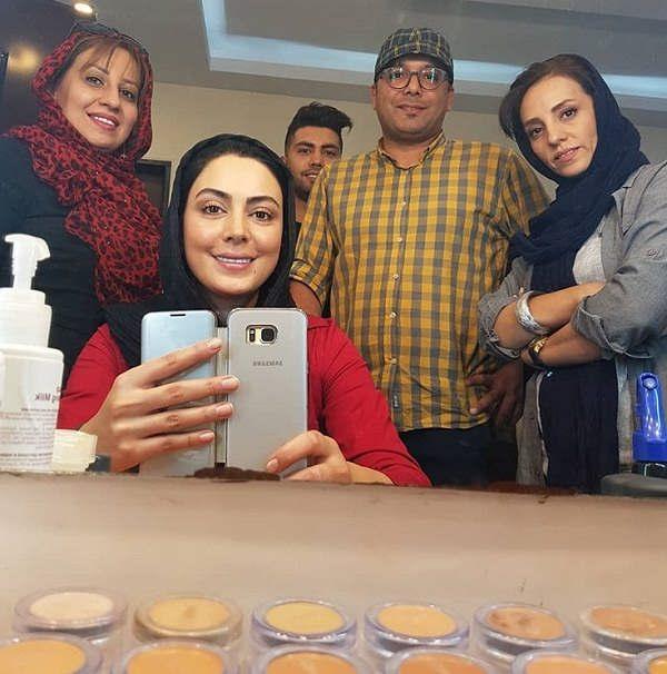 نیلوفر شهیدی در پشت صحنه سریال گاندو