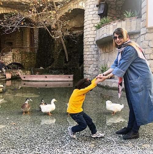 عکس شبنم قلی خانی و دخترش