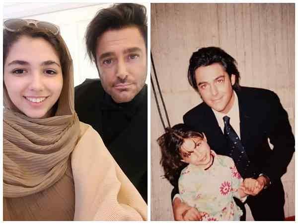 عکس قدیمی مونا اسکندری در فیلم تله در کنار محمدرضا گلزار در کنار عکس جدید در کنار او