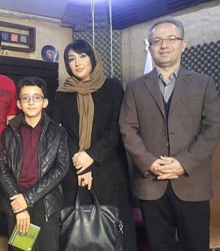 عکس پارسا خائف و پدر و مادرش