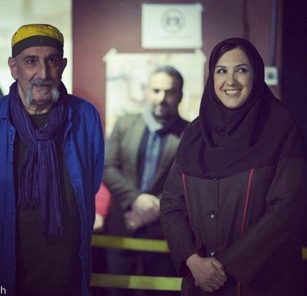 عکس پریسا مقتدی بازیگر در کنار استاد فرهاد آییش