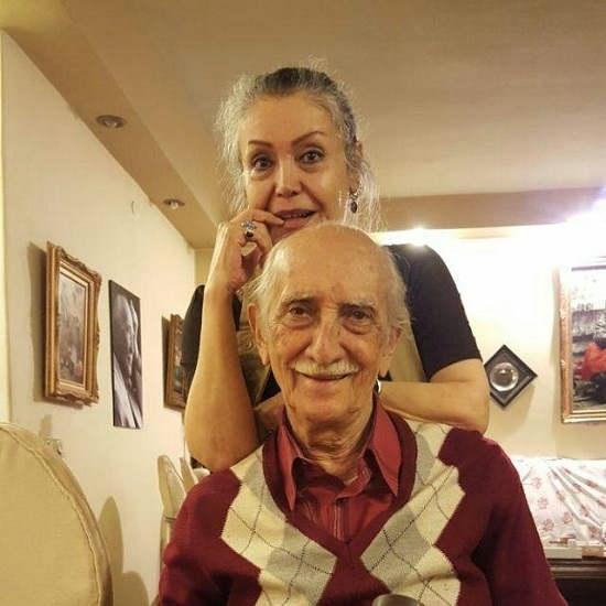 داریوش اسدزاده و همسرش