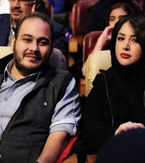 عکس غزل بدیعی و همسرش رضا داوودنژاد