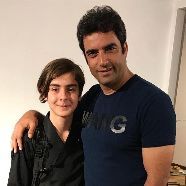 عکس متین مصطفوی بازیگر در کنار منوچهر هادی همسر یکتا ناصر