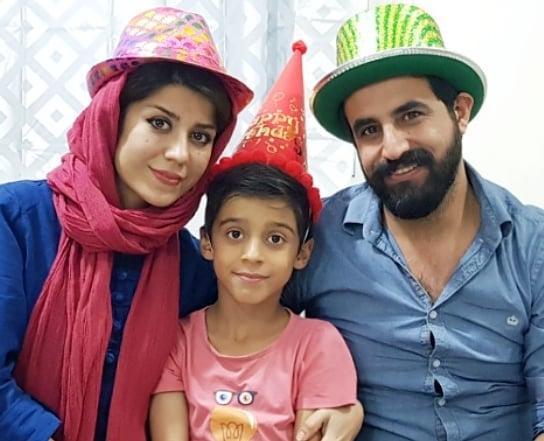 عکس همسر فاطمه عبادی و پسرش ابوالفضل