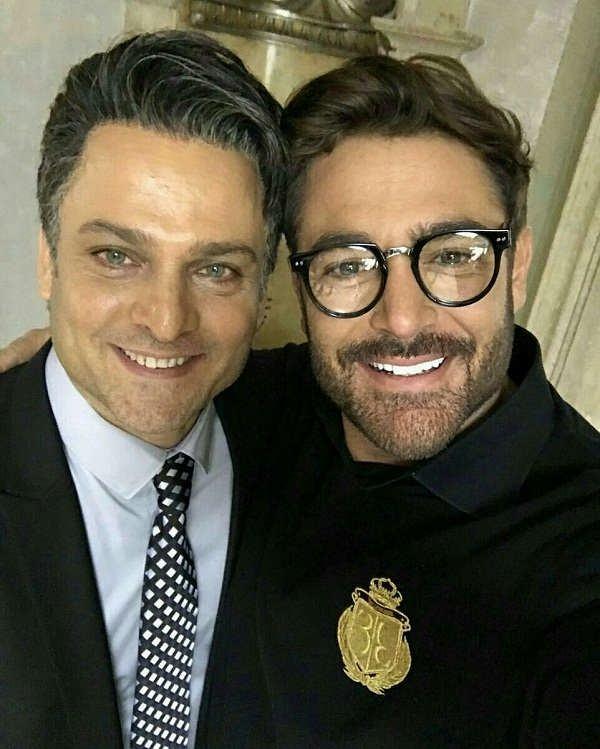 عکس و تصویر سلفی محمدرضا گلزار و حسین یاری در پشت صحنه سریال عاشقانه