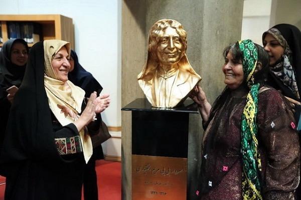 مراسم بزرگداشت و رونمایی از سردیس سردار مریم در کتابخانه ملی