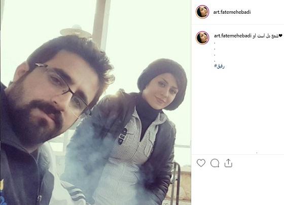 پست اینستاگرام فاطمه عبادی برای همسرش