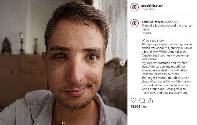 پست اینستاگرام فیلیپ گردشگر آلمانی در مورد اتفاقات افتاده در ایران