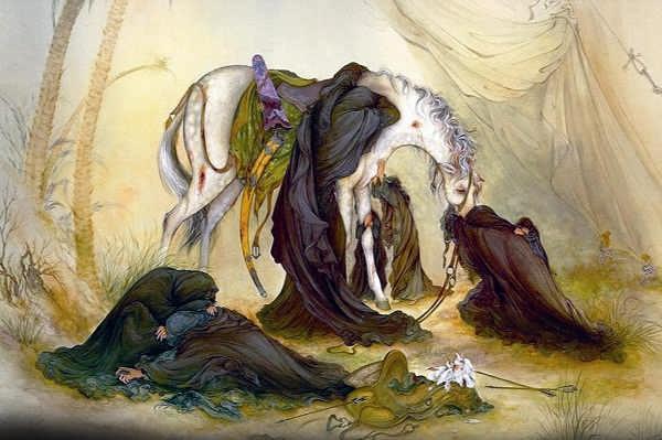 نقاشی عصر روز عاشورا استاد فرشچیان