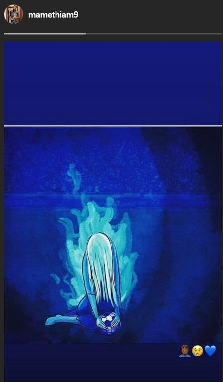 پست اینستاگرام مامه تیام برای مرگ دختر آبی