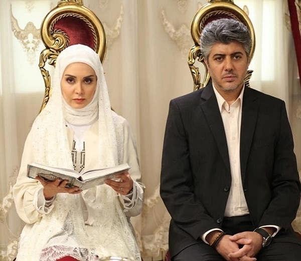 عکس شهرام پوراسد و مریم خدارحمی در صحنه ی عقد سریال ستایش 3