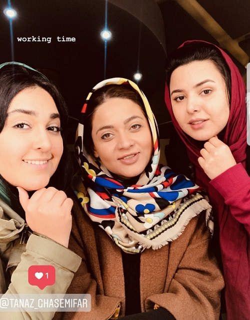 استوری عارفه معماریان از بازی در نقش دختر محمود نقاش
