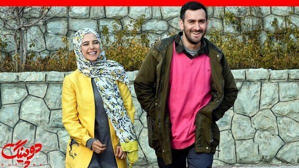 الناز حبیبی و نیما شعبان نژاد در سریال دوپینگ