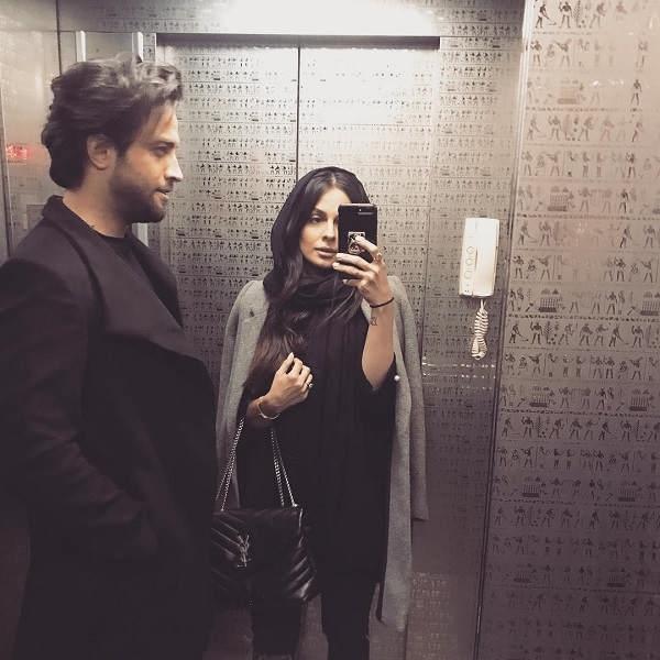 بنیامین بهادری و همسر دومش