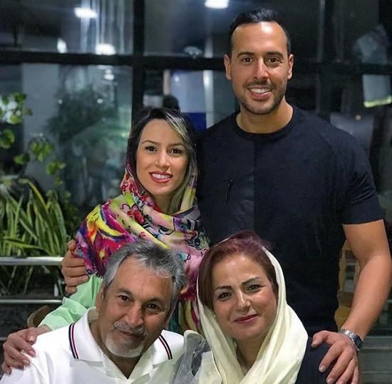 عکس ایلیا کیوان و خانواده اش