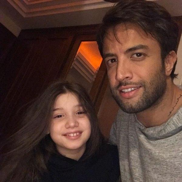 عکس بنیامین بهادری و دخترش بارانا بهادری
