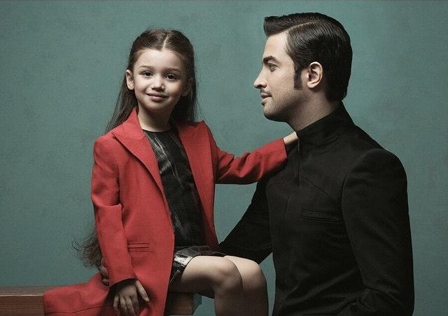 عکس بنیامین و دخترش بارانا