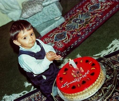 عکس جشن تولد امیرحسین آرمان در کودکی