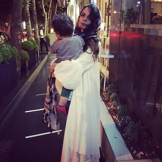 عکس حاملگی شایلی محمودی برای فرزند دومش