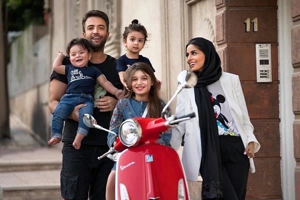 عکس خانوادگی بنیامین بهادری