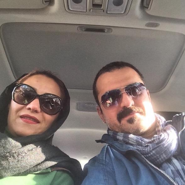 عکس علیرضا آرا و همسرش شبنم مقدمی