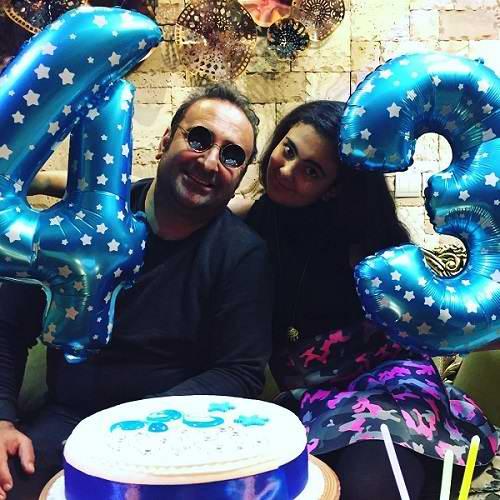 عکس مهران احمدی و دخترش باران در جشن تولد 43 سالگی