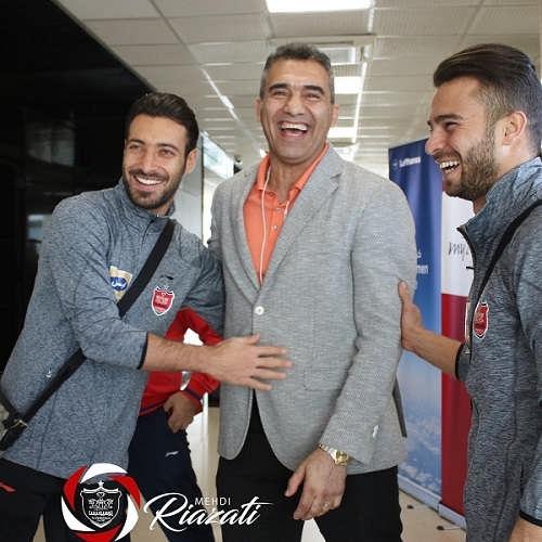 عکس شجاع خلیل زاده و سروش رفیعی در کنار احمدرضا عابدزاده