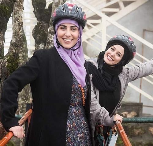 الناز حبیبی بازیگر و ساره قصیر