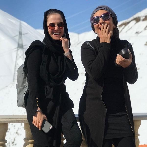 الناز حبیبی و لیندا کیانی بازیگران مسابقه هفت روز و هفت ساعت