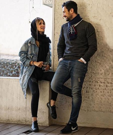 عکس شاهرخ استخری و همسرش سپیده بزمی پور